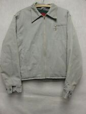 W3085 Powr-House Gray Blanket Wool Lined Zip Up 40's Vintage Jacket Men M