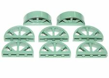 LEGO LOT OF 8 NEW SAND GREEN WINDOWS WITH ROUNDED TOP 1 X 4 X 1 2/3 SPOKED PARTS