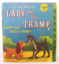 Vintage 1962 Walt Disney Little Golden Record - Lady and the Tramp Movie 45rpm