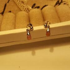 Sterling Silver Pear TJC Fine Earrings