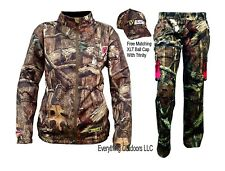 ScentBlocker Sola Women Knock Out Jacket Pant Set Trinity Mossy Oak Large w/Cap