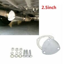 2.5'' 3 Bolts Exhaust Y-Pipe Cutout Pipe Cap +Bolts +Gasket without Exhaust Pipe