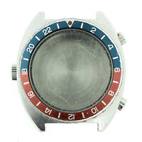 HEUER AUTAVIA GMT VINTAGE 11630 ORIGINAL CASE PUSHERS, CROWN, BEZEL INSERT, BACK