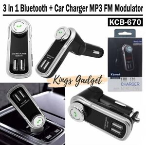 Car Usb Dual Charger MP3 AUX FM 24V  TF Handsfree Mp3 Transmitter Player **NEW**