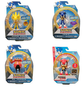 """Sonic The Hedgehog Articulated """"4"""" Figures Toys - Eggman Mighty Super Sonic +++"""