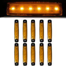 10 Pcs Amber Side Marker Lights 6 LED 12V Waterproof Fits Mercedes Atego Actros