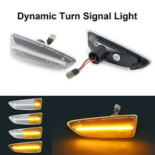 2X Amber Dynamic LED Side Marker Light For OPEL Astra K J Insignia B Grandland X