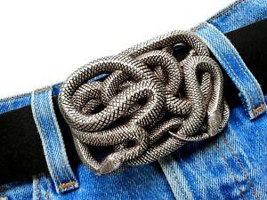 Schlangen Gürtelschnalle Snake Buckle Reptil Ornament  Wechselschnalle 4cm