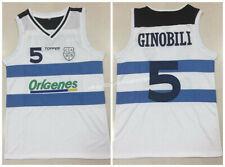 Throwback Manu Ginóbili #5 Origenes Argentina National Team Basketball Jerseys