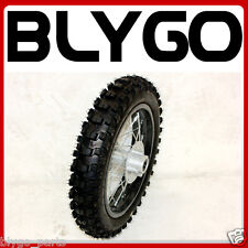 "BLACK 12mm Axle 3.00- 14"" Inch Rear Back Wheel Rim Knobby Tyre PIT PRO Dirt Bike"