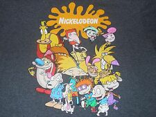 Nickelodeon Rugrats Ren & Stimpy Rocco Hey Arnold Angry Beavers T-Shirt Adult L