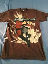 Team Fortress 2 Soldier T-Shirt Double Sided Graphic Half Life TF2 Small