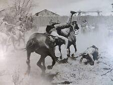 1957 Fort Dobbs Original Vintage Movie Fight Scene Still Photo #97