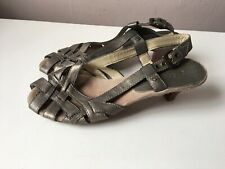 CLARKS ladies brass leather sling back sandals size 4