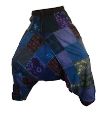 Unisex Vintage Hippy Boho Aladdin Harem Yoga Baggy Ninja Pants Trousers Cotton