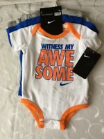 Nike Baby Boy's  3 Pack Bodysuits Set (Size 0-3 Months )