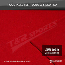 Red Double-sided Wool Pool Snooker Table Top Cloth Felt Suits 10''