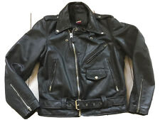 Branded Garments Size 40 Motorcycle Biker Rider Leather Jacket Genuine Vintage