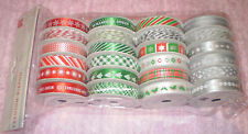 AMERICAN CRAFTS HOLLYDAY CHRISTMAS PREMIUM RIBBON & BAKER'S TWINE 24 SPOOLS NEW