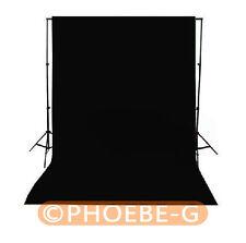 Photographie CHROMAKEY Noir Toile de fond 1.8 m x 2.8 m 100% Coton Mousseline Fond