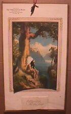 R ATKINSON FOX PRINT - INDIAN CHIEF - A CHILD OF NATURE - 1921 CALENDAR - RARE