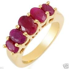 3.0ctw 5 Stone Ruby Ring-14k/925-Free Ship/Valued $170.