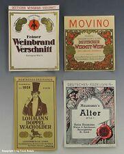 4 x Etiketten...verschiedene SPIRITUOSEN um 1925