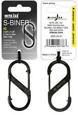 Nite Ize S-Biner Size 3 Black Dual Carabiner SB3-03-01