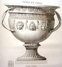 """""""Musee des Antiques"""" Eng. -c1811- CREMATION OF CLODIUS"""