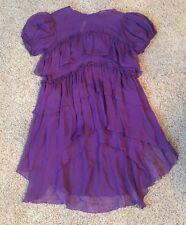 Thomas Wylde 100% Silk Purple Blouse Tunic Top Tee Small Блузка $1,210