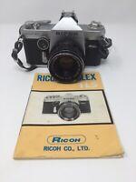 Ricoh Singlex TLS 35mm SLR camera Rikenon 1:17 F50mm Lens 018484 with Book