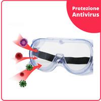 Occhiali protettivi da lavoro protezione anti virus e batteri sicurezza occhi