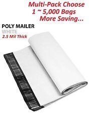 1~5000 Multi Pk 12x15.5 White Poly Mailers Shipping Envelopes Self Sealing Bags
