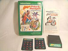 Las Vegas Poker & Blackjack - Intellivision - Complete W/ controller overlays