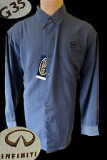 Infiniti G35 embroidered patch shirt LARGE racing salesman manager blue mechanic
