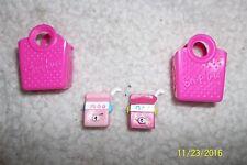 Season 4 Shopkins Petkins 4-095 Milk Bud & Petkin Milk Bud EASTER w/2 pink bag
