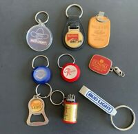 9 Vintage Keychains from Beer, Cigarette, Liquor Companies  - Lot 117