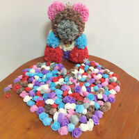 500PCS 3.5CM PE FOAM ROSE ARTIFICIAL FLOWER FOR DIY ROSE TEDDY BEAR DOLL SMART
