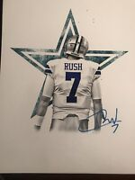 Cooper Rush Signed 8x10 Dallas Cowboys Photo Autographed Central Michigan Gdst W
