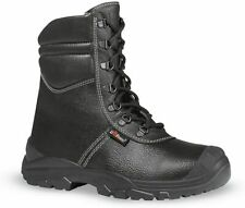UPOWER BY JALLATTE SIZE 10 KROTAL BC70643 BLACK FUR LINED TALL TOE CAP WORK BOOT