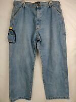 Mens Polo Ralph Lauren Carpenter Jeans 38x30 Blue Denim Cell Phone Pocket VTG