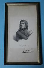Napoleon Bonaparte - Lithographie , Porträt , Brustbild - gerahmt