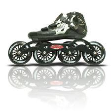 Flash Fire inline speed skates with ceramic bearings.
