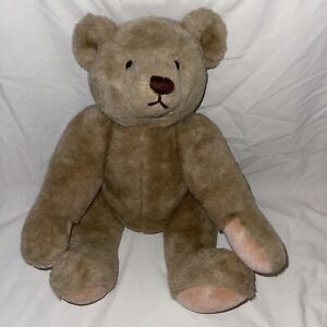 """Vintage 1982 GUND Bear Jointed Teddy Stuffed Plush Animal 16"""" Brown Movable"""