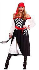 Music Legs Costume Pirate Wench 70516 Black/Red Small/Medium