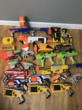 Huge Lot Of NERF Dart Guns - 19 Blasters + Accessories - Nstrike Doomsland Tag