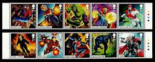 GB 2019 MARVEL COMICS SUPER HEROES SPIDER-MAN HULK THOR CAPTAIN BRITAIN SET MNH