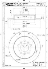 Disc Brake Rotor-LS Rear Magneti Marelli 1AMVR20117