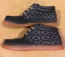 DVS Hunt Size 9 Black Gum Canvas BMX DC Skate Deck Shoes $78 Box Price