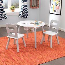 Kidkraft Round Storage Table & 2 Chair Set - Grey